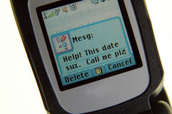 Bad date message Royalty Free Stock Photo