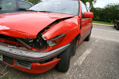 Bad day... Accident - bad day for owner car - destroyed side car royalty free stock photography