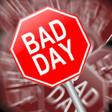 Bad day concept. Stock Photos
