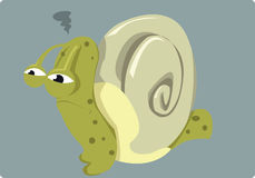 Bad day for Mr.Snail Royalty Free Stock Photography