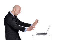 Bad day at work. Portrait of a young business man Royalty Free Stock Image