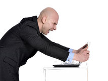 Bad day at work. Portrait of a young business man Stock Images