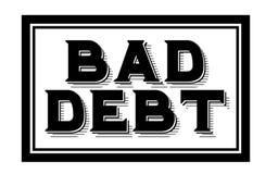 BAD DEBT sticker. Authentic design graphic stamp Stock Images