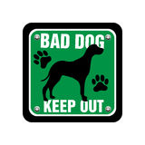 Bad dog plate Stock Photo