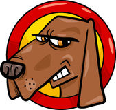 Bad dog sign cartoon illustration Royalty Free Stock Image