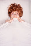Bad dreams. Funny guy is having nightmares Royalty Free Stock Photo