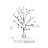 Bad Ecology Sketch Concept Stock Photo