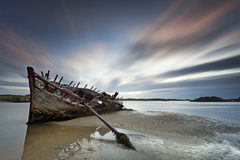 Bad Eddie II. Shipwreck located in Bunbeg village, Co. Donegal, Ireland Stock Photography