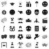 Bad emotion icons set, simple style Royalty Free Stock Photography