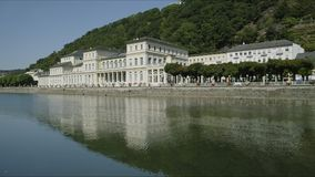 Bad Ems, Germany. Bad Ems is a healing spa with the Roman source at the River Lahn, Germany, Europe stock footage