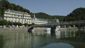 Bad Ems, Germany. Bad Ems is a healing spa with the Roman source at the River Lahn, Germany, Europe stock video footage