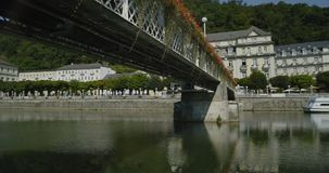 Bad Ems, Germany. Bad Ems is a healing spa with the Roman source at the River Lahn, Germany, Europe stock video