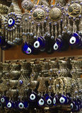 Bad eyes traditional turkish souvenirs at Grand Bazaar Istanbul Stock Photography