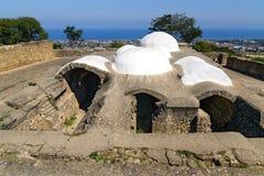 Bad för Khan ` s i den Naryn-Kala fästningen Derbent arkivfoton