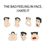 The bad feeling- ESP 10. Face expression,The bad feeling - on Shadow Stock Image