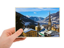 Bad Gastein Austria photography in hand Stock Images