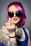 Bad girl Royalty Free Stock Images