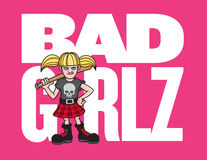 Bad Girl Vector Illustration Royalty Free Stock Photography