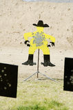 The bad guy. Target at a cowboy action shooting competition Royalty Free Stock Photography