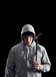 Bad Guy in the Dark Royalty Free Stock Images