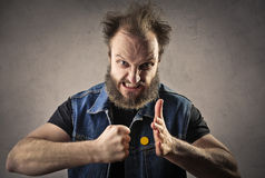 Bad guy. Ready to punch someone stock images