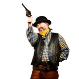 Wild west bank robbery Royalty Free Stock Photo