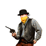 Wild west bank robbery Stock Photography