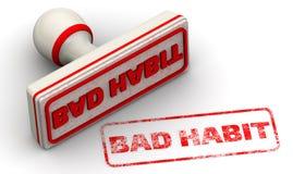 Bad habit. Seal and imprint Stock Image