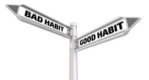 Bad habit. Seal and imprint  Royalty Free Stock Image
