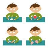 Bad habits. Flat vector illustration Stock Photos