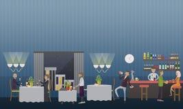 Bad habits vector illustration in flat style royalty free illustration