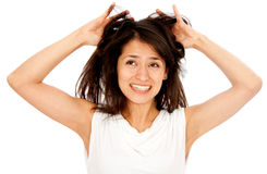 Bad hair day Royalty Free Stock Image