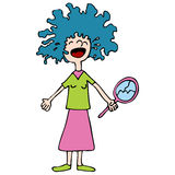 Bad Hair Day. An image of a girl crying over a bad hair day Royalty Free Stock Images