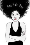 Bad Hair Day - sketch of a terrified woman. Sketch of a terrified woman having a bad hair day royalty free illustration