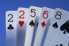 A bad hand. Of poker cards Stock Image