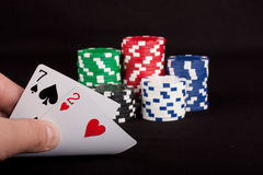 Bad Hand In Poker Royalty Free Stock Photo