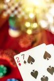 Bad Hand in Poker Stock Image