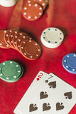 Bad Hand in Poker Royalty Free Stock Images