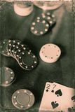 Bad Hand in Poker Stock Images
