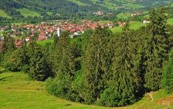 Bad Hindelang,Allgaeu,Germany. Village bad hindelang in the allgaeu in bavaria,germany Royalty Free Stock Photography
