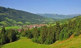 Bad-Hindelang,Allgaeu,Germany. Village bad-hindelang in the allgaeu in bavaria,germany Stock Photo