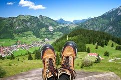 Bad Hindelang Oberjoch. Bad Hindelang village in the Allg�uer Alpen, allgau, oberallgau, bavaria, germany Royalty Free Stock Images