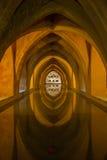 Bad i alcazaren, Seville, Spanien Royaltyfri Fotografi