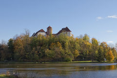 Bad Iburg castle in autumn, Osnabruecker Land, Lower Saxony, Germany Stock Photography