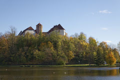 Bad Iburg castle in autumn, Osnabruecker Land, Lower Saxony, Germany Stock Photos