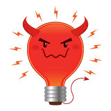 Bad Idea Evil Light Bulb With Horn And Tail Stock Photos