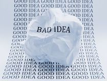 Bad Idea - Good idea Royalty Free Stock Image