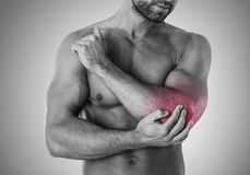Bad injury. Overtraining can lead to injury stock photography