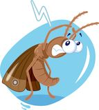 Scared Moth Insect Vector Cartoon. Bad insect character enemy of textiles and wool clothes Stock Photo