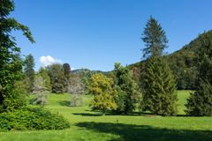BAD ISCHL, UPPER AUSTRIA/AUSTRIA - SEPTEMBER 15 : Grounds of th. E Imperial Kaiservilla in Bad Ischl Austria on September 15, 2017 royalty free stock photos